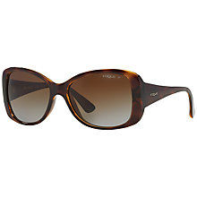Buy Vogue VO2843S Polarised Square Sunglasses, Tortoise Online at johnlewis.com