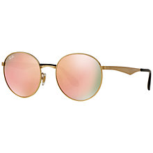 Buy Ray-Ban RB3537 Highstreet Round Sunglasses Online at johnlewis.com
