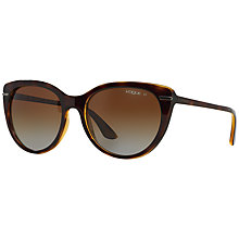 Buy Vogue VO2941S Polarised Gradient Sunglasses, Tortoise Online at johnlewis.com