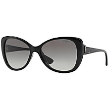 Buy Vogue VO2819S Cat's Eye Gradient Sunglasses, Black Online at johnlewis.com