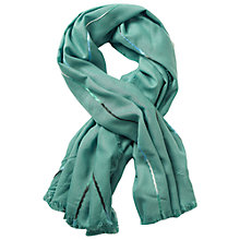 Buy Betty & Co. Fringe Edge Scarf, Jade Green Online at johnlewis.com