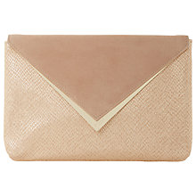 Buy Dune Behan Clutch Bag, Nude Online at johnlewis.com