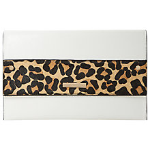 Buy Dune Elvina Black Flapover Clutch Bag, Leopard Online at johnlewis.com