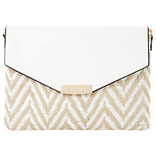 Buy Dune Enid Clutch Bag, White Online at johnlewis.com