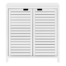 Buy John Lewis Bali Double Bathroom Towel Cupboard, White Online at johnlewis.com