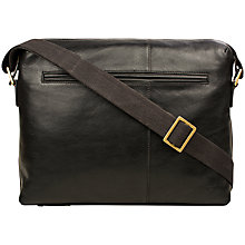 Buy Hidesign Fitch 02 Leather Zip-Up Shoulder Bag, Black Online at johnlewis.com