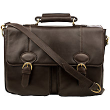 Buy Hidesign Parker 02 Leather Briefcase, Brown Online at johnlewis.com