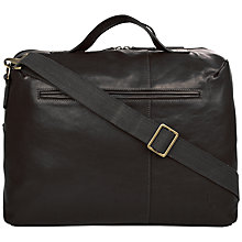 Buy Hidesign Fitch 03 Leather Holdall, Black Online at johnlewis.com