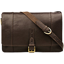 Buy Hidesign Maverick 03 Leather Messenger Bag, Brown Online at johnlewis.com