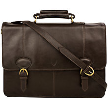 Buy Hidesign Parker 03 Leather Briefcase, Brown Online at johnlewis.com