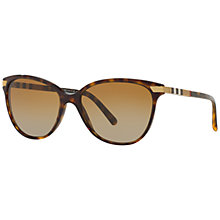 Buy Burberry BE4216 Polarised Cat's Eye Gradient Sunglasses, Tortoise Online at johnlewis.com