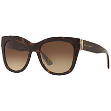 Buy Dolce & Gabbana DG4270 Mama's Brocade Square Sunglasses, Tortoise/Multi Online at johnlewis.com