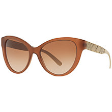 Buy Burberry BE4220 Gradient Cat's Eye Sunglasses, Caramel Online at johnlewis.com