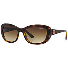 Buy Vogue VO2972S Rectangular Gradient Sunglasses, Dark Havana Online at johnlewis.com