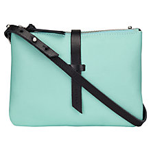 Buy Jigsaw Double Pouch Across Body Bag, Aqua Online at johnlewis.com