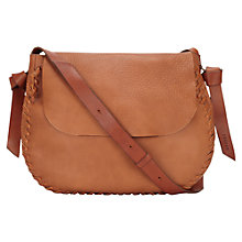 Buy Jigsaw Rowan Whipstitch Saddle Bag Online at johnlewis.com