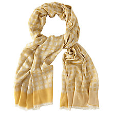 Buy White Stuff Big Spot Jacquard Scarf, Yellow Online at johnlewis.com