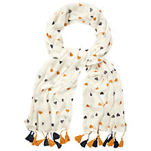 Buy White Stuff Makers Heart Scarf, Off White Online at johnlewis.com