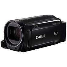"Buy Canon LEGRIA HF R78 Camcorder, HD 1080p, 3.28MP, 57x Advanced Zoom, Optical Image Stabiliser, Wi-Fi, NFC, 3"" Touch Screen LCD Display With Wide Angle Attachment Online at johnlewis.com"