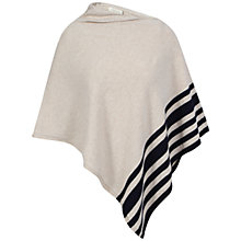 Buy Celuu Erica Lambswool Poncho, Stone Online at johnlewis.com