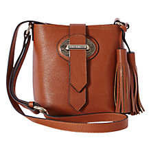 Buy Karen Millen Leather Tassel Mini Bucket Bag Online at johnlewis.com