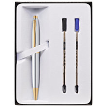 Buy Cross Calais Ballpoint Pen, Chrome/Gold Online at johnlewis.com