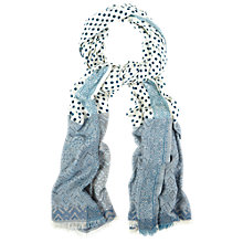 Buy White Stuff Jacquard Spot Scarf, Multi Online at johnlewis.com