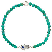 Buy Melissa Odabash Bead and Hamsa Hand Bracelet, Turquoise/Silver Online at johnlewis.com