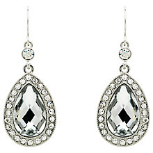 Buy Monet Teardrop Glass Crystal Drop Earrings Online at johnlewis.com