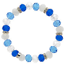 Buy Monet Bead and Crystal Rondel Stretch Bracelet Online at johnlewis.com