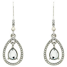 Buy Monet Teardrop Glass Crystal Open Drop Earrings Online at johnlewis.com