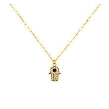 Buy Melissa Odabash Glass Crystal Hamsa Pendant Necklace Online at johnlewis.com