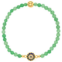 Buy Melissa Odabash Evil Eye Jade Bead Bracelet, Green/Gold Online at johnlewis.com