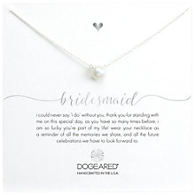 Buy Dogeared Bridal Large Pearl Bridesmaid Reminder Necklace, Silver Online at johnlewis.com