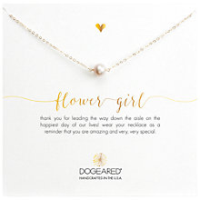 Buy Dogeared Bridal Pearl Flower Girl Reminder Necklace, Gold Online at johnlewis.com