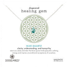 Buy Dogeared Healing Gem Reminder Teardrop Pendant Necklace, Silver/Blue Quartz Online at johnlewis.com
