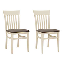 Buy John Lewis Carlton Set of 2 Dining Chairs, Cream Online at johnlewis.com