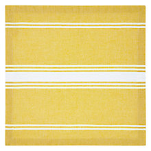 Buy John Lewis Napoletana Napkins, Set of 4, Yellow / White Online at johnlewis.com