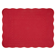 Buy John Lewis Maison Quilted Placemat, Wine Online at johnlewis.com