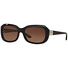Buy Ralph Lauren RA5209 Polarised Rectangular Sunglasses, Black Online at johnlewis.com