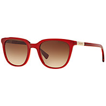 Buy Ralph Lauren RA5206 Gradient D-Frame Sunglasses, Dark Red Online at johnlewis.com