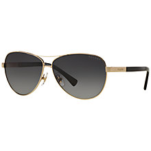 Buy Ralph Lauren RA4116 Polarised Aviator Sunglasses Online at johnlewis.com