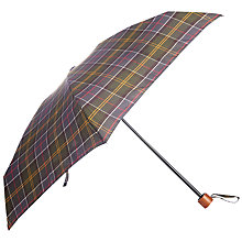 Buy Barbour Classic Tartan Umbrella, Green Online at johnlewis.com