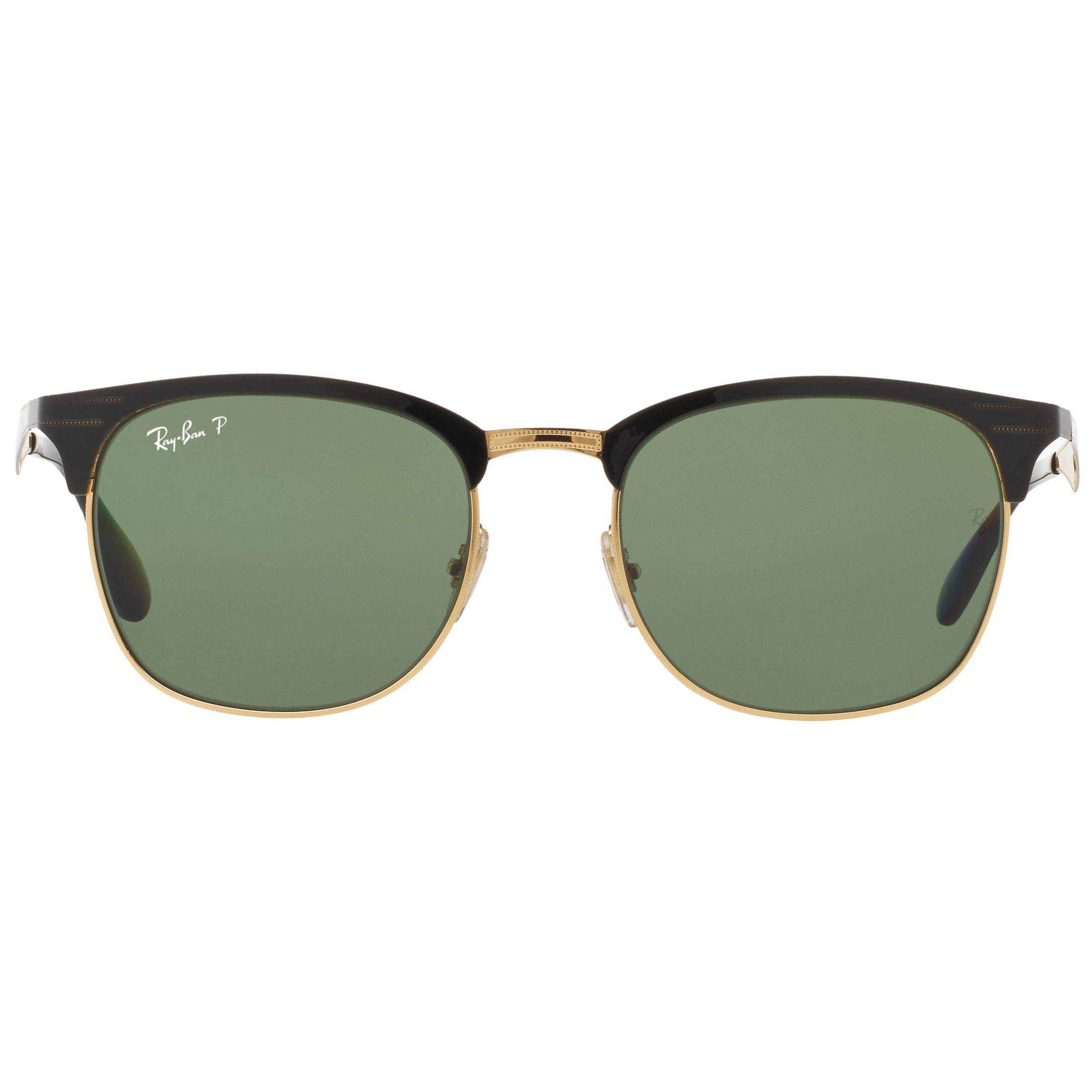 Buy Ray-Ban RB3538 Half Frame Polarised Square Sunglasses ...
