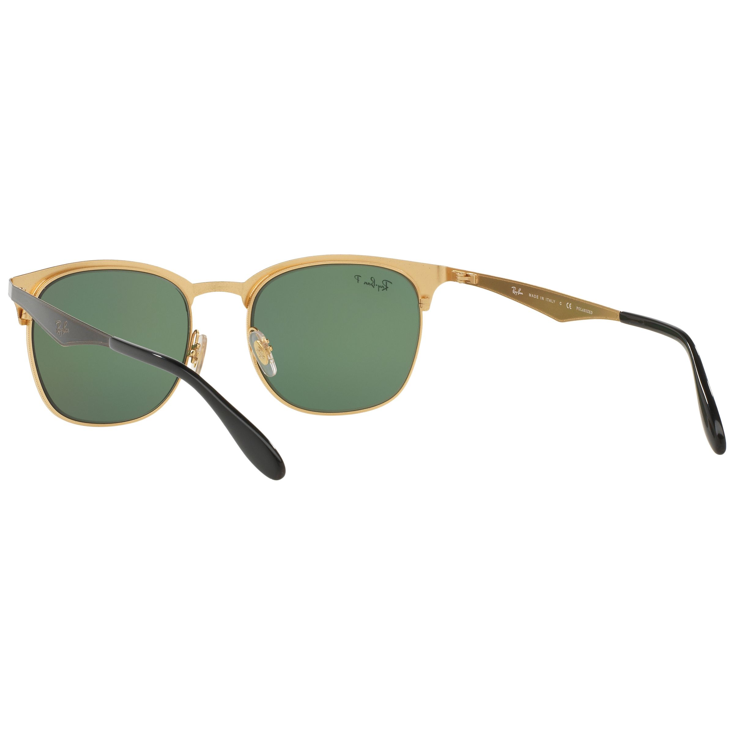 Buy Ray-Ban RB3538 Half Frame Polarised Square Sunglasses ...