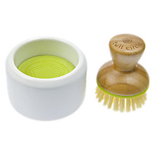Buy Full Circle Dish Brush and Ceramic Holder Online at johnlewis.com