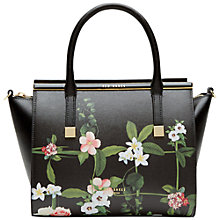 Buy Ted Baker Shena Enamel Bar Tote Bag, Black Online at johnlewis.com