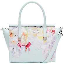 Buy Ted Baker Honora Hanging Gardens Crosshatch Leather Tote Bag, Mint Online at johnlewis.com