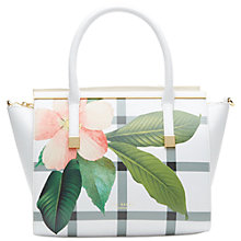 Buy Ted Baker Trudy Leather Tote Bag, White Online at johnlewis.com