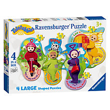 Buy Teletubbies 4 Large Shaped Puzzles Online at johnlewis.com